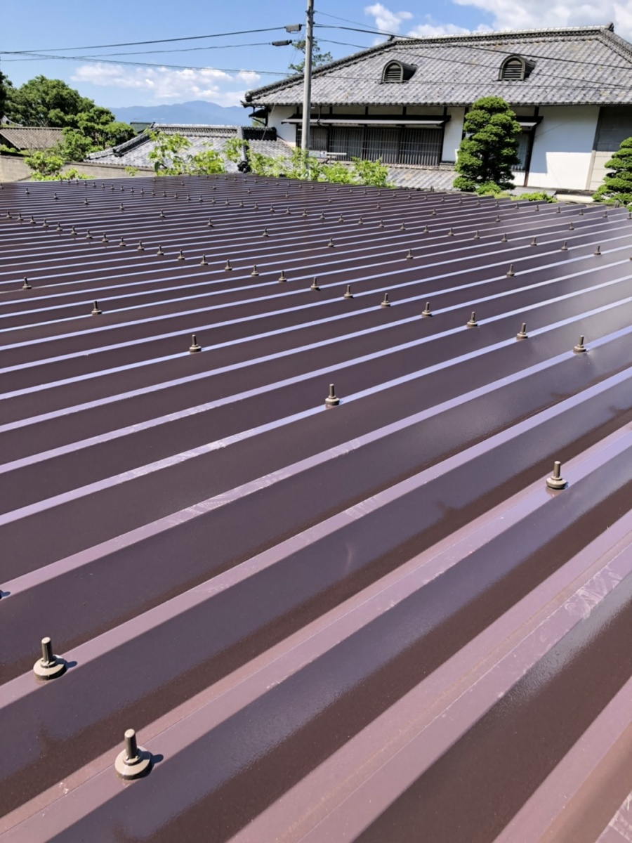 安曇野市折半屋根塗装 (31)